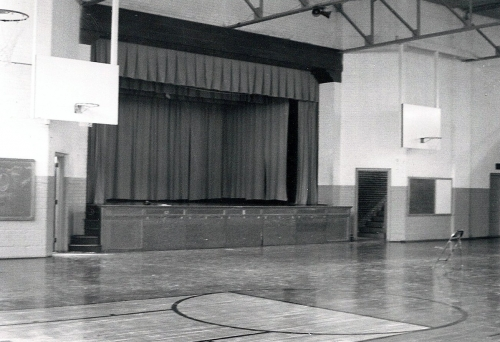 Remember the talent shows, basketball games, PE class and lunch in this gym.  Oh yes, how can we ever forget running lap