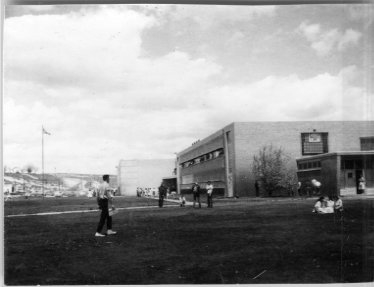 Picture is looking at the SW corner of school property.  Photo provided by the Museum of Northwest Colorado.  Thanks